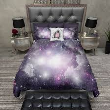 galaxy bedding purple cosmos duvet cover u0026 pillow cases outer