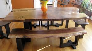 Rustic Dining Room Table Bench Beautiful Rustic Dining Bench 6 Piece Set Hypnotizing
