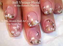 robin moses nail art soft neutral floral nails prom nail art