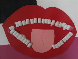 going to the dentist craft use chewing gum for the teeth made by