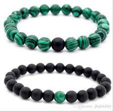 power beads bracelet images 2018 jln power beads malachite bracelet matt onyx gemstone beaded jpg