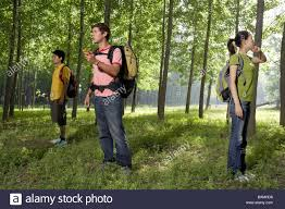 young people lost in a forest stock photo royalty free image