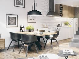 White Wood Dining Room Table by 30 Black U0026 White Dining Rooms That Work Their Monochrome Magic