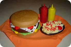 hamburger and fries birthday cake a photo on flickriver