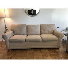 raymour u0026 flanigan queen microfiber sleeper sofa aptdeco