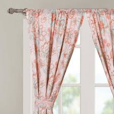 Curtain Pairs Barrel Studio Ennis Nature Floral Semi Sheer Curtain Panel