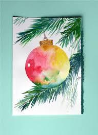 watercolor cards watercolor card ornament