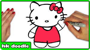 draw kitty easy step step drawing tutorial