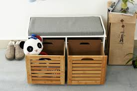 orolay storage bench with 2 drawers u0026 seat cushion shoe cabinet