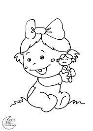 26 dessins de coloriage bébé à imprimer