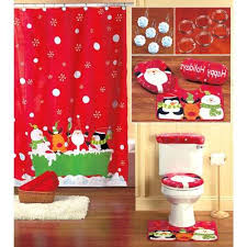 Shower Curtains Sets For Bathrooms by Christmas Shower Curtain Set Home Bathroom Holiday Pinterest