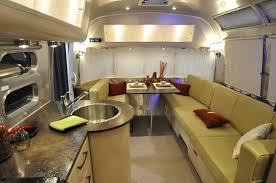 Camper Trailer Interior Ideas Airstream Interior Design Cosy Airstream Interior Design For