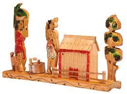 handmade home decor items showpiece of a village scene u2013 handmade in bamboo u2013 rustic look