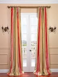Gold Striped Curtains Green Gold Striped Silk Curtains Country Decor