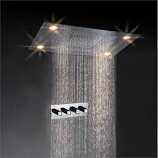 Shower Faucet Pictures Luxury Square Rain Nickel Finish Led Shower Faucet