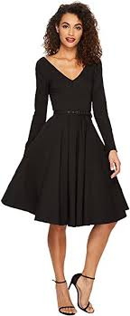 sleeve black dress dresses women shipped free at zappos