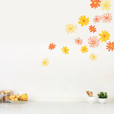 daisy flowers wall image gallery flower wall art home decor ideas