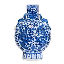 Blue And White Vase Chinese Antique Blue And White Vase Isolate On White Background