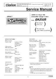 clarion dxz535 service manual