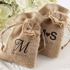 personalized party favor bags burlap favor bags with drawstring ties