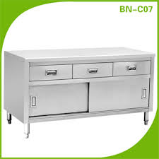 stainless steel commercial kitchen cabinet storage work table