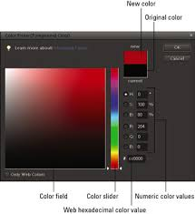 working with the color picker in photoshop elements 10 dummies