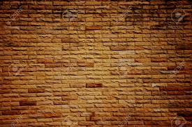 dark color of orange brick wall in construction is part of the
