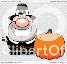 pumpkin no background cartoon of a happy male pilgrim man with a pumpkin royalty free