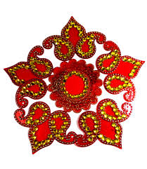 Swastik Decoration Pictures Grabkaro Swastik Design Rangoli Showpiece Mdf Multicolor Grabkaro