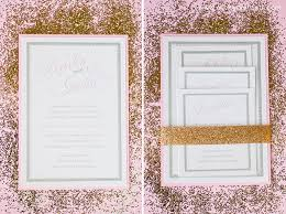 wedding invitations groupon sparkly pink gold styled shoot at cairnwood estate