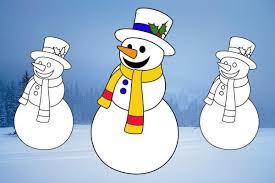 snowman print colour northern echo