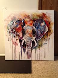 painting an elephant in acrylic best 2018