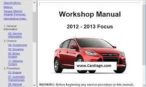 2012 2013 ford focus workshop repair service manual