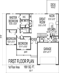 Bungalow Floor Plans With Basement 1661 Square Foot Ranch House Plans Pinterest Ranch House