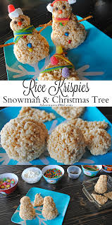 How To Make A Festive Rice Krispies Snowman And Christmas Tree