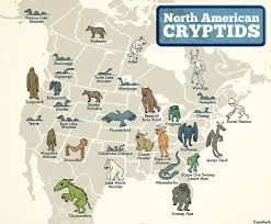A Map Of The Us Maptitude U2014 The North American Cryptid Map Here Is A Map In