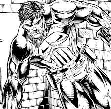 punisher comic book art pencil and inks digital manga studio