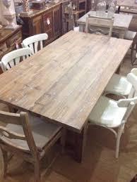 Medium Daddy Zinc Top Oak Dining Table With Oak Frame EBay - Ebay kitchen table