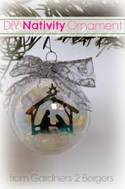 from gardners 2 bergers diy nativity glass ornament