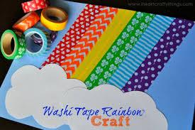 washi rainbow craft i crafty things