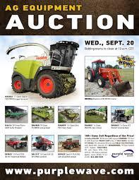 Sold September 20 Ag Equipment Auction Purplewave Inc