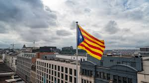 Flag Of Catalonia Catalan Flag Raised Atop The Offices Of The Largest Belgian