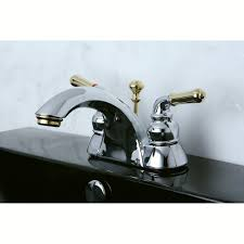 Polished Brass Kitchen Faucet by Kingston Brass Kb2624 Naples 4 Inch Centerset Lavatory Faucet