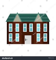 Two Storey House Brown Two Storey House Icon Flat Stock Vector 469065965 Shutterstock