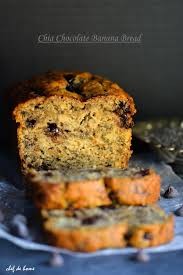 moist chia chocolate chip banana bread recipe chefdehome com