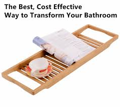 bathtubs ergonomic bamboo bathtub caddy tray 67 sobuy high