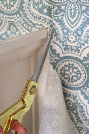 remodelaholic starched fabric wall treatment tutorial