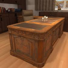 Antique Office Desks For Sale Carved Wood Antique Office Desk 3d Model Office Desk Resolute