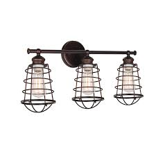 3 Fixture Bathroom Design House 519736 Ajax 3 Light Vanity Light Bronze