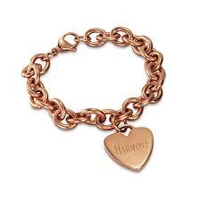 gold personalized bracelets gold heart tag bracelet s addiction